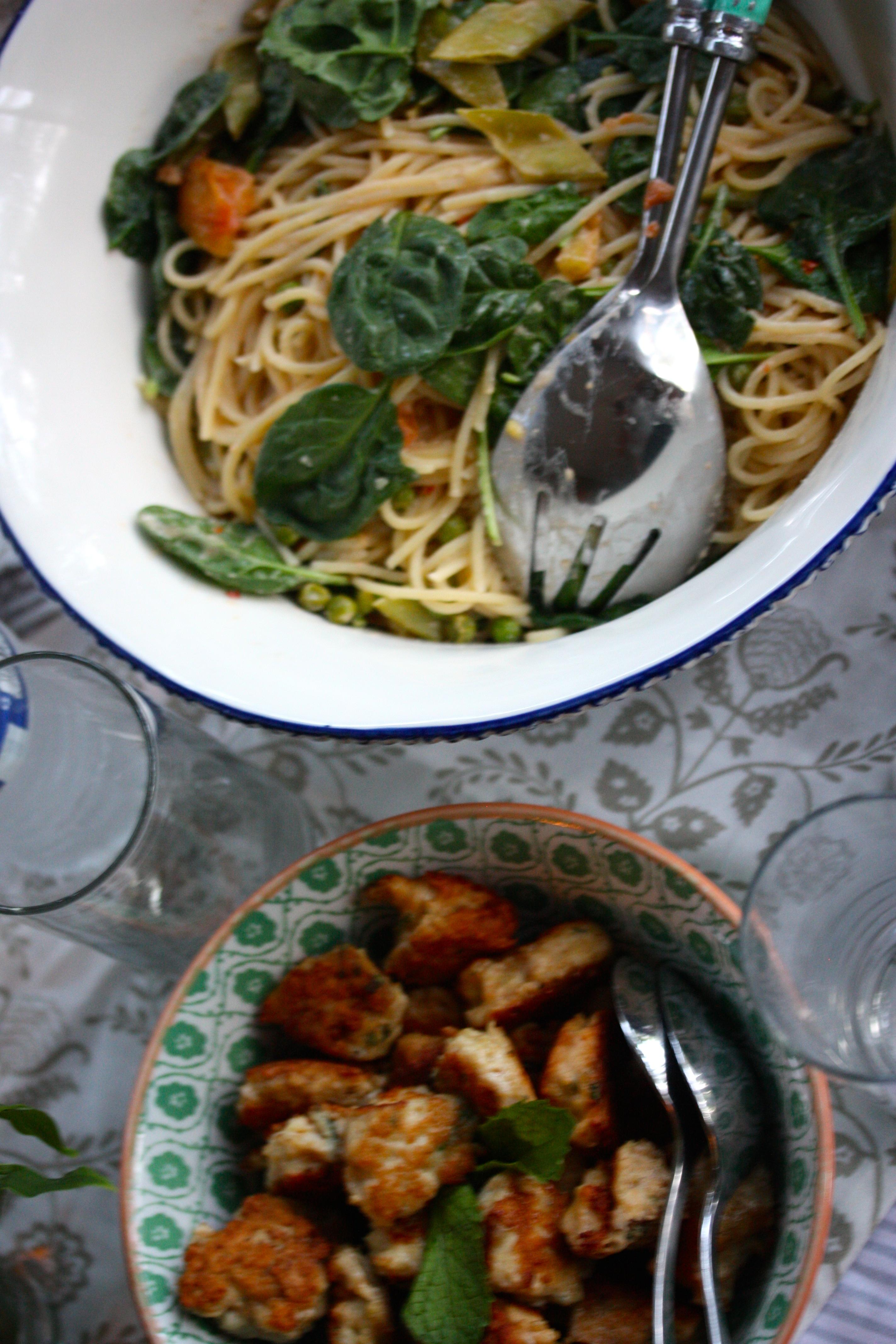 kyckling pasta grädde
